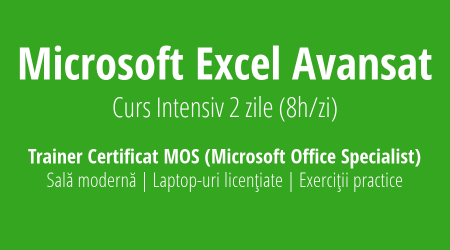 curs excel avansat intensiv training exe